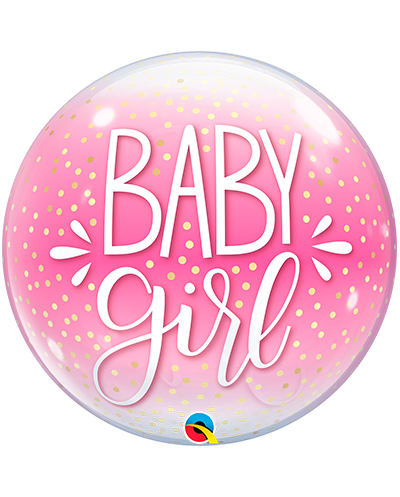 Globo Bubble Baby Girl confetti