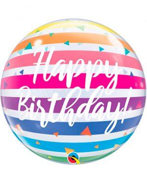 Globo Bubble Birthday Rainbow Stripes