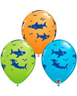 Globo látex surtido Tiburones