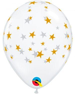Globo látex Contempo Stars transparente