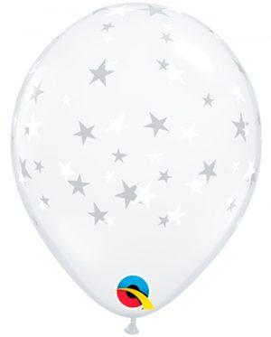 """Globo látex Contempo Stars transparente 5"""""""