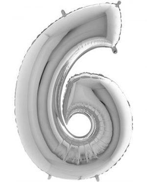Globo forma numero seis Plata