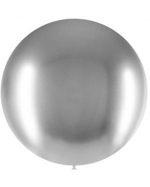 Globo látex Brilliant 60 cms. Plata Special Deco