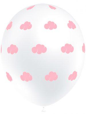 Globo látex con nubes rosa claro Special Deco