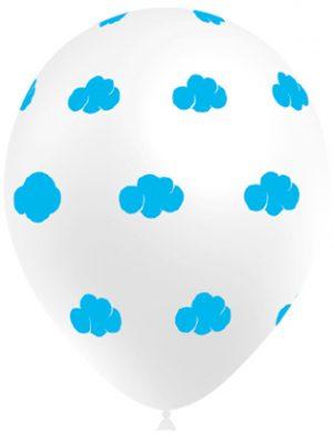 Globo látex con nubes azul claro Special Deco