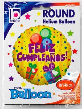 Globo foil Feliz Cumpleaños Regalos