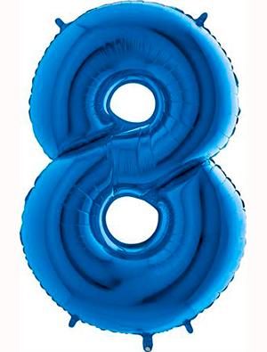 Globo forma numero ocho Azul