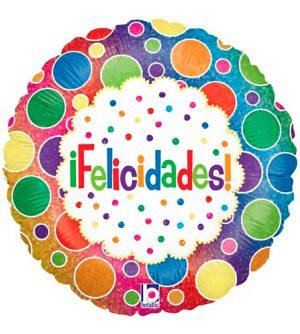 Globo foil Felicidades Bolas