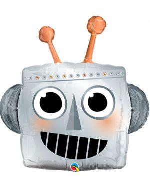 Globo foil Cabeza de Robot