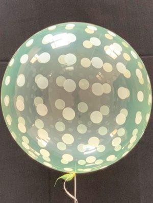 """Burbuja Especial Deco dots cristal amarillo 18"""""""