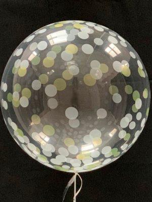 """Burbuja Especial Deco confeti plata-oro 18"""""""