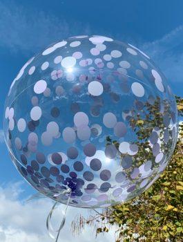 Burbuja Especial Deco confeti purpura 18