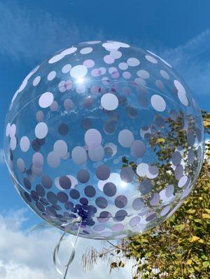 "Burbuja Especial Deco confeti purpura 18"""