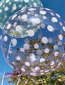 Burbuja Especial Deco dots purpura 18
