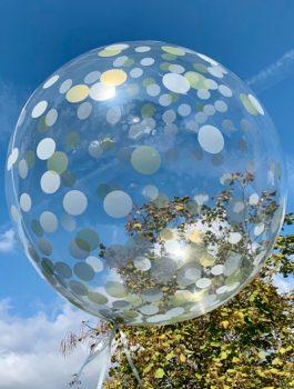 Burbuja Especial Deco confeti plata-oro 18
