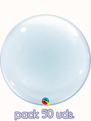 "Globo Deco Bubble Clear 24"" Pack 50 uds."