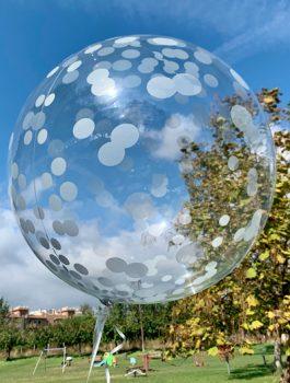 Burbuja Especial Deco confeti plata 18