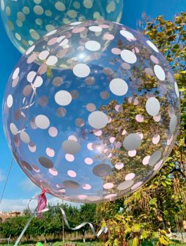 Burbuja Especial Deco dots rojo 18