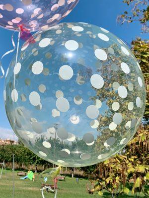 """Burbuja Especial Deco dots amarillo 18"""""""