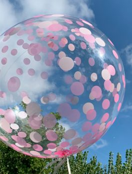 Burbuja Especial Deco confeti rosa 18