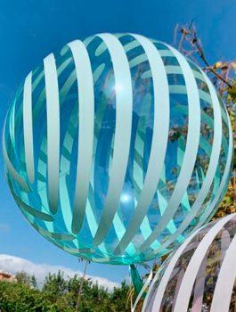 Burbuja Especial Deco rayas verde 18