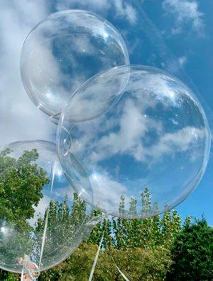 """Burbuja Especial Deco transparente 18"""""""