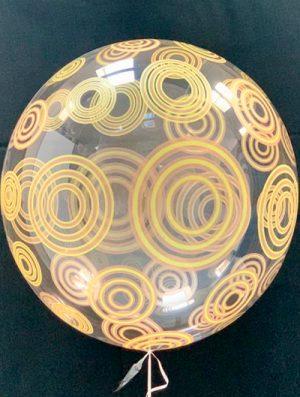"""Burbuja Especial Deco circulo dorado 20"""""""