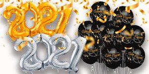 Globo látex Feliz Año Nuevo