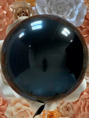 """Burbuja Especial Deco metálico negro 18"""""""