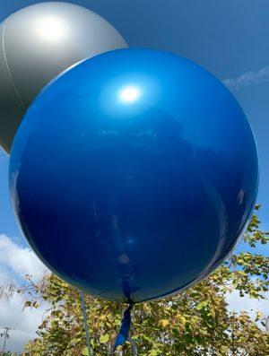"Burbuja Especial Deco metálico azul 18"""