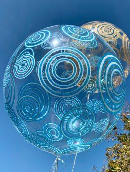 Burbuja Especial Deco circulo azul 20
