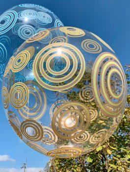 Burbuja Especial Deco circulo dorado 20