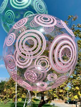 Burbuja Especial Deco circulo rosa 20