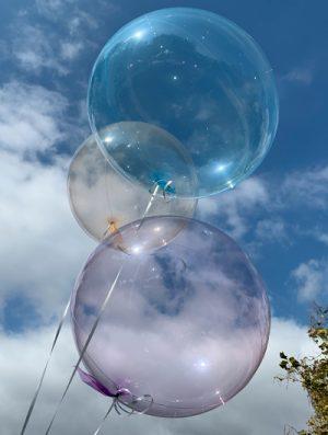 """Burbuja Especial Deco cristal azul 18"""""""