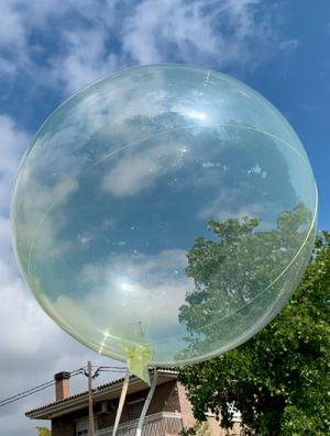 "Burbuja Especial Deco cristal amarillo 18"""