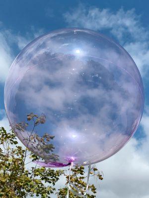 """Burbuja Especial Deco cristal purpura 18"""""""