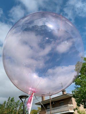 """Burbuja Especial Deco cristal rosa 18"""""""