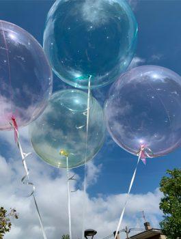 Burbuja Especial Deco cristal rosa18