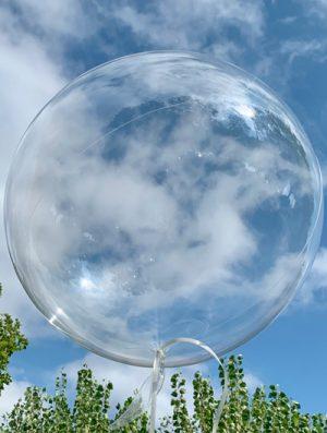 """Burbuja Especial Deco transparente 12"""""""