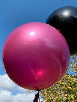 Burbuja Especial Deco metálico magenta 18
