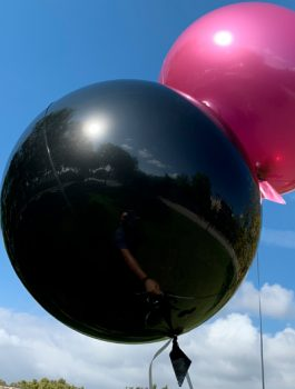 Burbuja Especial Deco metálico negro 18