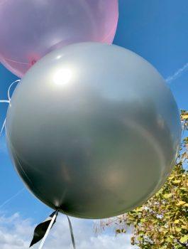 Burbuja Especial Deco metálico plata 18