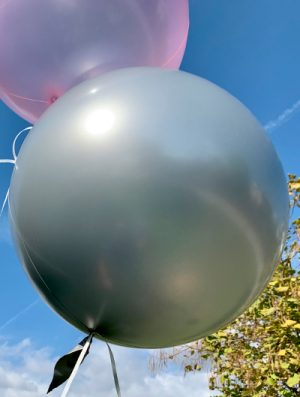 """Burbuja Especial Deco metálico plata 18"""""""