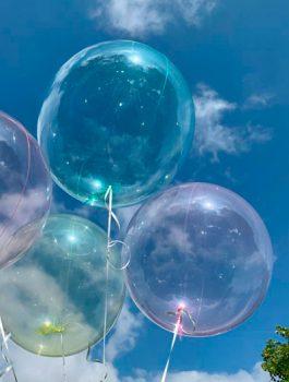 Burbuja Especial Deco cristal verde 18
