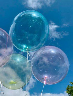 """Burbuja Especial Deco cristal verde 18"""""""