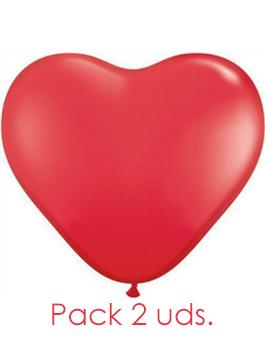 "Globopack látex corazón Rojo 18"" 45 cms."