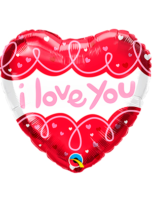 Globo foil corazón Doodle loops
