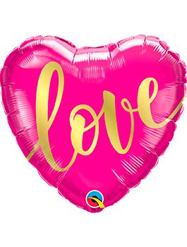 Globo foil corazón Love text