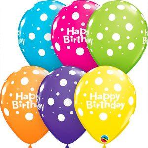 Globo látex Birthday Big Polka Dots