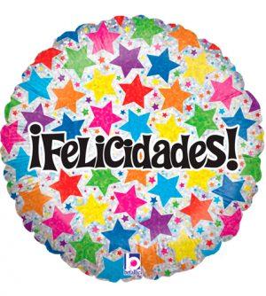 Globo foil Felicidades Estrellas